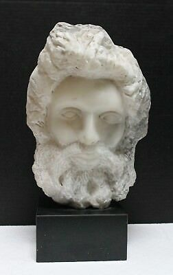 Marble Carving, Bust Of A Man, In The Greek Or Roman Manner