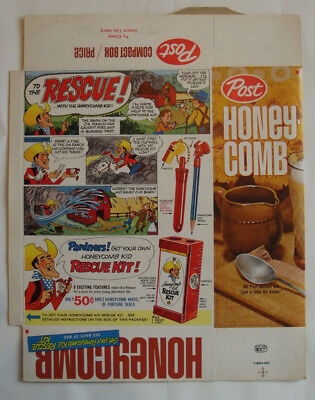 1960's Post Honeycomb Honey Comb Kid Rescue Barn Is On Fire Unused 8oz File Box