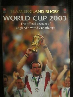 Signed Book - Team England Rugby - World Cup 2003 - (Johnson - Catt - Greenwood)
