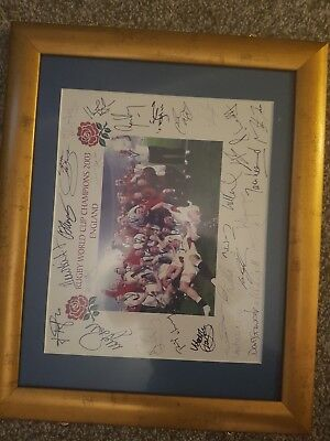 England rugby world cup 2003 signed picture