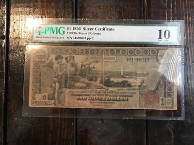 1896 $1 Silver Certificate PMG 10 Educational Series Note Bill