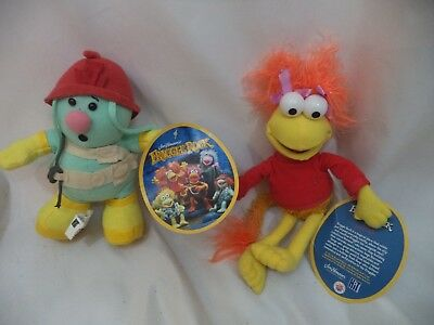 Nanco Fraggle Rock plush, Doozer and Red, new with tags, Jim Henson, Muppets