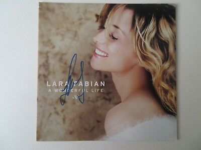 Signed Autograph CD Booklet Lara Fabian - A Watchful Life