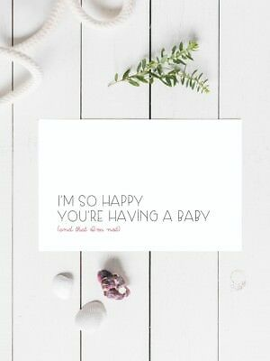 heard you are pregnant whore funny rude greeting Card Funny  115x170mm