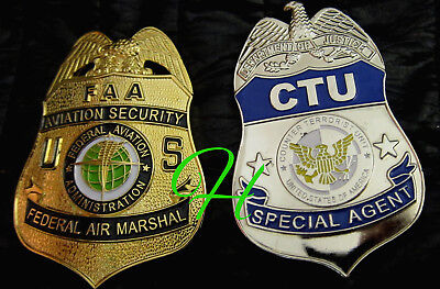 h./ Historisches police badge+ choose Federal Air Marshal  or  CTU Special Agent