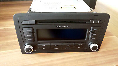 AUDI S3 A3 CD player Radio CD Concert 8P0035186AB