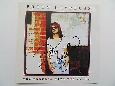Signed Autograph CD Booklet Patty Loveless - The Trouble With The Truth