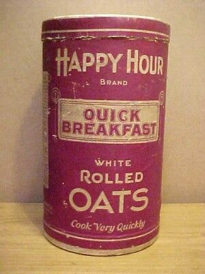 Vintage Happy Hour Oats Box Campbell Holton & Co. Bloomington, Illinois