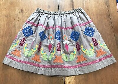 Peek Sgt. Fletcher Multicolored Embroidered Peacock Skirt Size 10 EUC