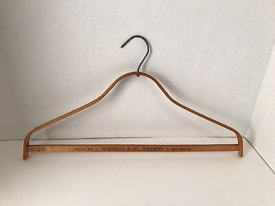 ANTIQUE~1920'S/30'S ADVERTISING BENT WOOD advertising Marshall & Co., Cleaners