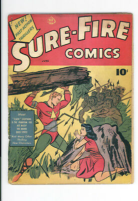 Sure-Fire Comics #1 - Rare - Complete With Original Covers And All Pages - 1940