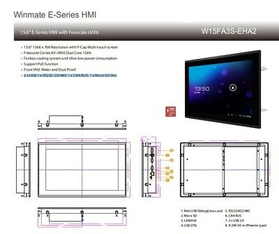 """Industrial Touchpanel 15"""" DataRespons W15FA3S-EHA2"""