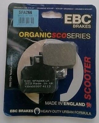 Piaggio X9 180 (2000 to 2003) EBC Organic REAR Disc Brake Pads (SFA266) (1 Set)