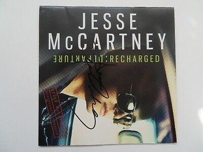 Signed Autograph CD Booklet Jesse McCartney - Departure: Recharged