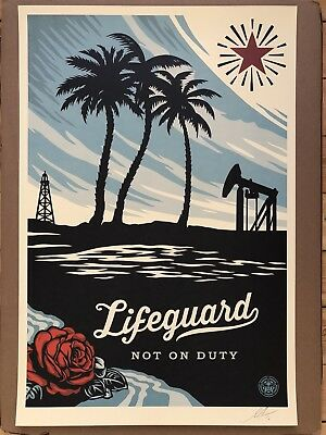 Shepard Fairey Lifeguard Not On Duty Obey Giant Sold Out