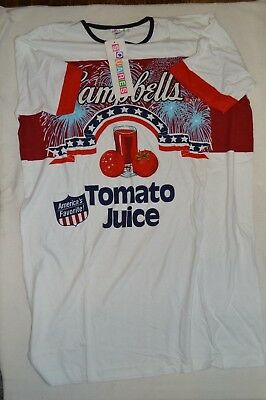 Campbell'S Soup Tomato Juice Night Gown Sleepwear One Size Nwt