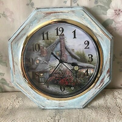 Shabby Chic French Country Cottage Style Decorative Distressed Wall Clock