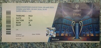 Ticket Champions League Finale 2016 - Real vs. Atletico Madrid