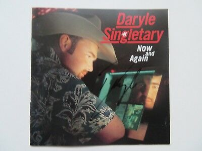 Signed Autograph CD Booklet Daryle Singletary - Now And Again