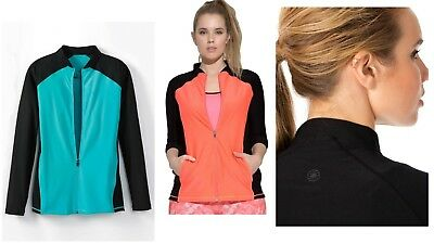 Lot of 8 Womens Athletic Jackets by Full Beauty Sport Plus Sizes L, 1X