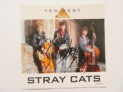 Signed Autograph CD Insert Brian Setzer - The Best Of Stray Cats
