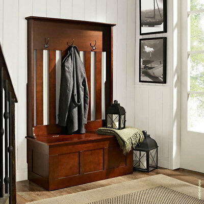 Remarkable Coat Rack Entryway Hall Tree Storage Bench Mahogany Wood Hat Andrewgaddart Wooden Chair Designs For Living Room Andrewgaddartcom