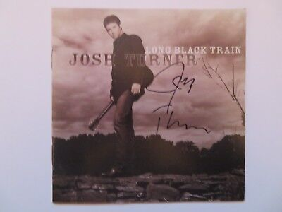Signed Autograph CD Booklet Josh Turner - Long Black Train