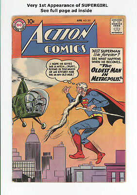 ACTION COMICS #251 - 1st APPEARANCE of SUPERGIRL! - IN FULL PAGE AD - 1959