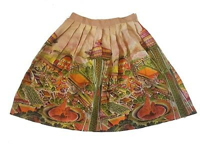 VTG Seattle World's Fair Space Needle Novelty Print Skirt 1960s 60s.