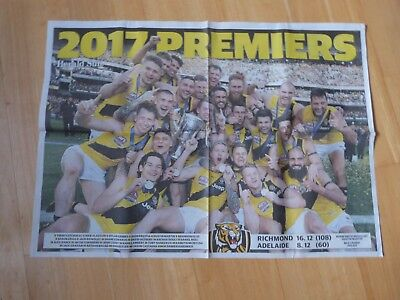 2017 Herald Sun Richmond Tigers 2017 AFL Premiers poster - ( Giant poster )