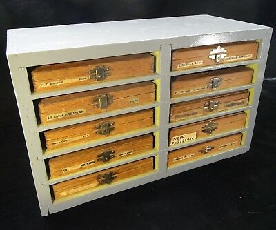 Kingsley Gold Stamping Machine Co. Parts / Accessories with Custom Storage Shelf
