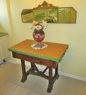Vintage Porcelain Top Kitchen Table With Extensions