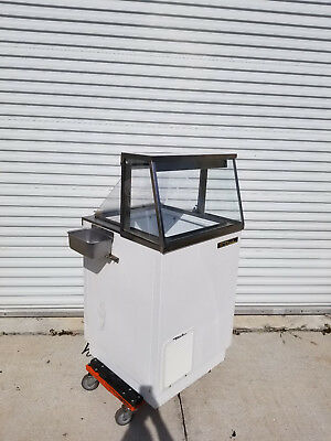 "2014 TRUE 27"" Ice Cream Dipping Cabinet Freezer w/ Dip Well TDC-27"