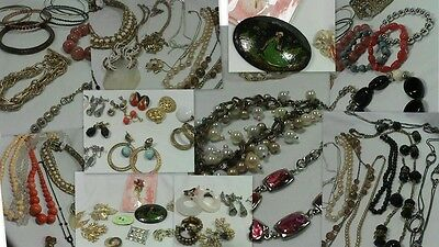 Vintage to Now Costume Jewelry Lot Necklace Bracelets Brooches clip on Earrings