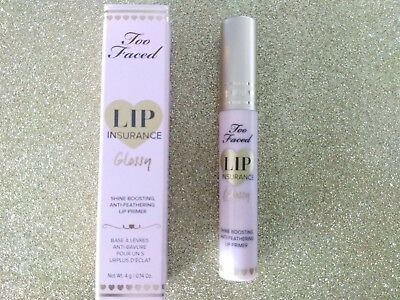 Too Faced Lip Insurance Lip Primer Glossy Shine Boosting Anti Feather Long Last