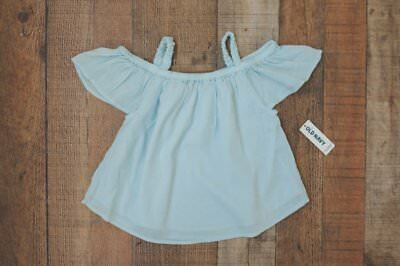 Old Navy Blue Off-the-Shoulder Top 2 2T NWT