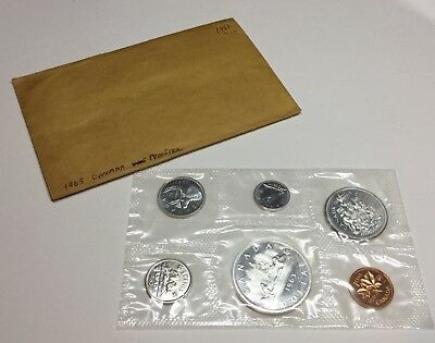 1963 Canada Proof-Like Set Uncirculated 6 Coins Royal Mint 80% Silver KM# PL14