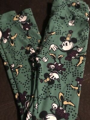 Lularoe Disney Kids Leggings L/XL-Old School Minnie NWOT