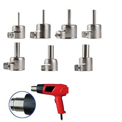 7pcs Heat Gun Nozzles Heat Air Guns Nozzle for Hot Air Soldering station
