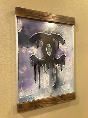 Chanel logo wall art picture store display! Aluminum & Wood frame! Stunning