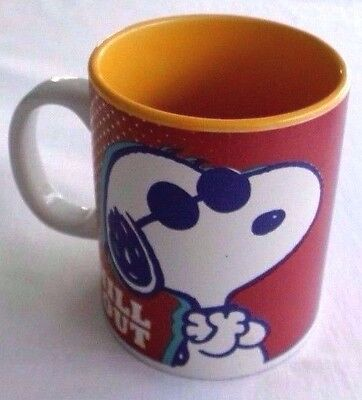 """Peanuts, Snoopy """" Chill Out """" Large Heavy Coffee Mug / Cup"""
