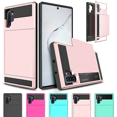 For Samsung Galaxy Note 10/S9 Plus Card Wallet Slot Hybrid Slim Phone Case Cover