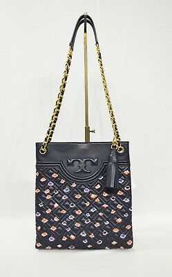 272fada3c2d7 Tory Burch Fleming Swingpack Messenger Shoulder Cross-body Bag in Printed  Black