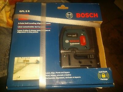 brand NEW  sealed ! Bosch GPL 5 R  : 5-Point Alignment Self Leveling Laser Level