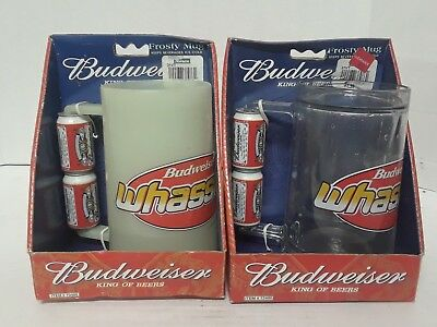 Set of 2 Vintage Budweiser® Whassup Frosty Mug w/Beer Can Handle Item #73400