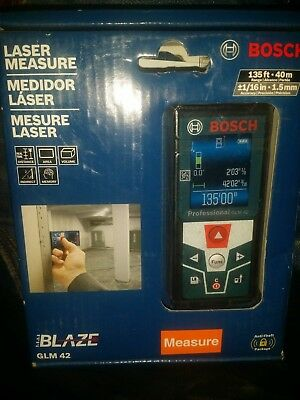 BRAND NEW Bosch BLAZE GLM 42 135 ft. Laser Measure with Full-Color Display