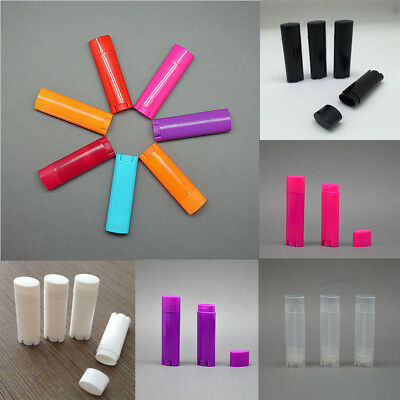 5/50 Pcs Oval Lip Balm Tubes Empty Lipstick Containers DIY Cosmetic Tubes Bottle