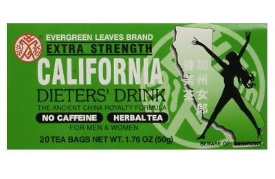 California Dieters Drink Extra Strength Tea Dieters Drink 20 Tea Bags