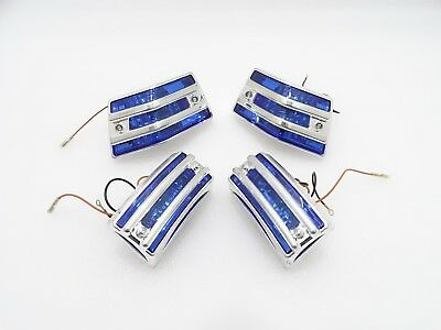New Vespa Pxlml Front & Rear Indicator With Grill Blue Lens  730730 #vp730