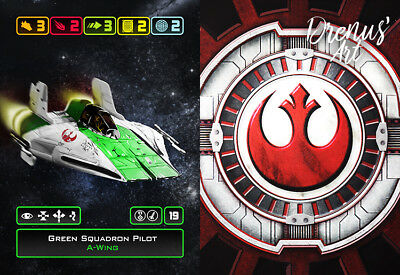X-Wing Miniatures - Custom Alt Card - Green Squadron Pilot (A-Wing)
